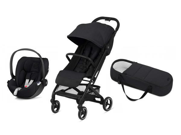 Poussette compacte beezy et siège auto cloud z i-sizedeep black