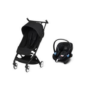 Cybex - BU513 - Pack poussette Libelle avec siège auto Aton M i-size - Deep black (456258)