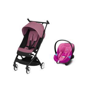 Cybex - BU515 - Pack poussette Libelle avec siège auto Aton M i-size - Magnolia pink (456262)