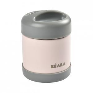 Beaba - 912908 - Portion inox isotherme 300 ml (gris foncé/rose clair) (456290)