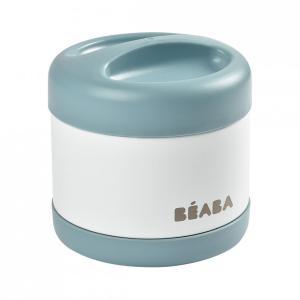 Beaba - 912909 - Portion inox isotherme 500 ml (bleu foncé/blanc) (456292)