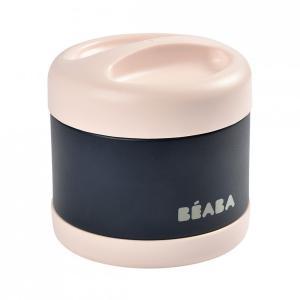 Beaba - 912910 - Portion inox isotherme 500 ml (rose clair/bleu nuit) (456294)
