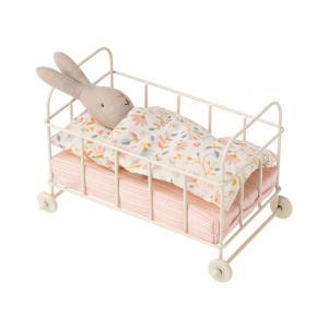 Maileg - BU059 - Poupée lapin et lit bébé miniature en métal - taille 16,5 cm (456368)