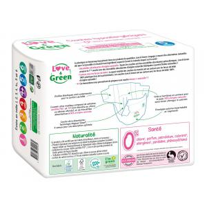 Love And Green - BU37 - Couches Bébé Hypoallergéniques 0% - Taille 5 (11-25 kg) - X2 (456568)