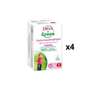 Love And Green - BU50 - Culottes Hypoallergéniques 20 Culottes Taille 4 (8-15 kg) - X4 (456594)