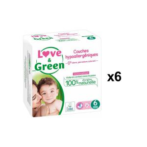 Love And Green - BU63 - Couches Hypoallergéniques 34 Couches Taille 6 (+15 kg - X6 (456620)