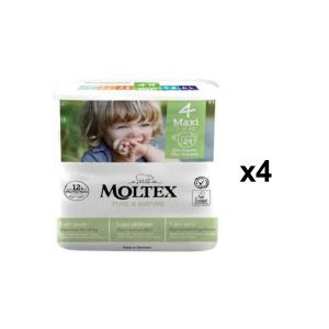 Moltex - BU2 - Pure et Nature - 29 Couches jetables Maxi 7-15 kg - X4 (456626)