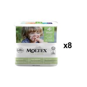 Moltex - BU4 - Pure et Nature - 29 Couches jetables Maxi 7-15 kg - X8 (456630)