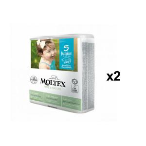 Moltex - BU5 - Pure et Nature - 25 Couches jetables Junior T5 11-25 kg - X2 (456632)