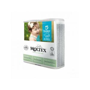 Moltex - BU7 - Pure et Nature - 25 Couches jetables Junior T5 11-25 kg - X6 (456636)