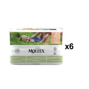 Moltex - BU15 - Pure et Nature - 38 Couches jetables Mini 3-6 kg - X6 (456652)