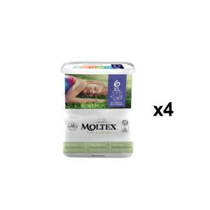 Moltex - BU18 - Pure et Nature - 21 Couches jetables XL - 16-30 kg - X4 (456658)