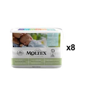 Moltex - BU24 - Pure et Nature - 22 Couches 2-4 kg - X8 (456670)