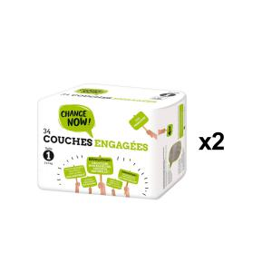 Change Now - BU73 - 34 Couches engagées T1, 2-5 kg - X2 (456688)