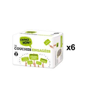 Change Now - BU87 - 36 Couches engagées T2, 3-6 kg - X6 (456716)