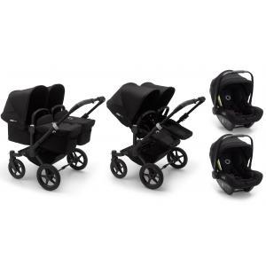 Bugaboo - BU366 - Pack poussette Donkey3 jumeaux, nacelles et sièges auto Turtle Air - noir (456966)