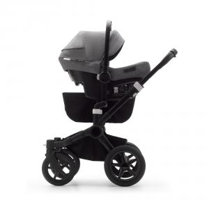 Bugaboo - BU371 - Bugaboo Donkey3 duo gris chiné - rouge et siège auto Turtle Air (456976)