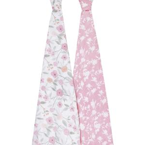 Aden and Anais - ASWC20007 - Pack de 2 maxi-langes grand format en mousseline de coton muslin ma fleur (457044)