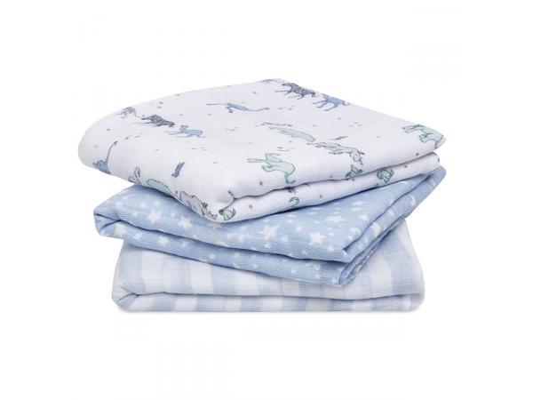 Pack de 3 musy-langes en mousseline de coton rising star