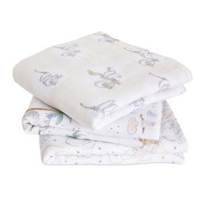 Aden and Anais - AMSC30010DI - Pack de 3 musy-langes en mousseline de coton Disney Baby - My Darling Dumbo (457064)