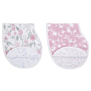 Aden and Anais - ABBC20007 - Pack de 2 bavoirs d'épaule burpy bib® en mousseline de coton ma fleur (457068)