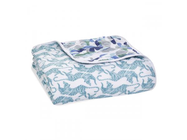 Couverture de rêve dream blanket en mousseline de coton dancing tigers