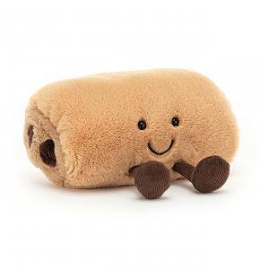 Jellycat - A6PACHOC - Peluche Pain au chocolat Amuseable - l = 15 x H = 11 cm (457336)