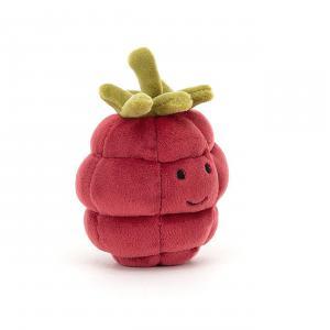 Jellycat - FABF6R - Peluche fruit framboise Fabulous - l = 8 x H = 10 cm (457402)