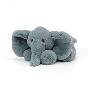 Jellycat - HUG2ELE - Peluche elephant Huggady - l = 12 cm x H= 22 cm (457430)