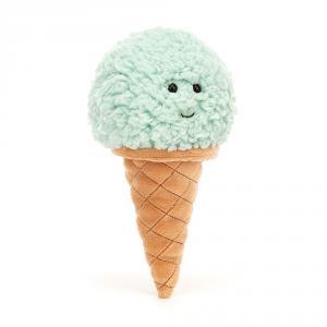 Jellycat - ICE6MINT - Peluche glace à la menthe Irresistible - l = 8 x H = 18 cm (457432)