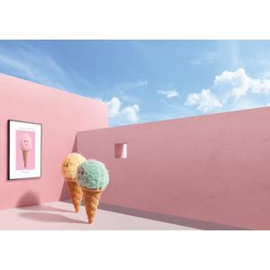 Jellycat - ICE6STRAW - Peluche glace à la fraise Irresistible - l = 8 x H = 18 cm (457434)