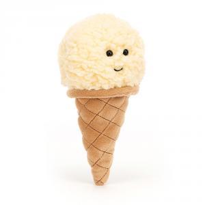 Jellycat - ICE6VAN - Peluche glace à la vanille Irresistible - l = 8 x H = 18 cm (457436)
