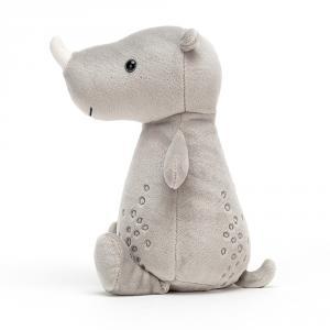 Jellycat - WOD3R - Peluche rhinocéros Woddletot - l = 10 x H = 21 cm (457540)