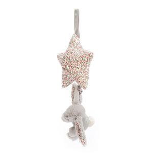 Jellycat - BAMS4BLBN - Peluche musicale lapin Blossom Bea Beige - H = 28 cm (457554)