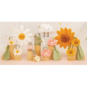 Jellycat - FLEU4SS - Doudou plat fleur tournesol Fleury - l = 34 x H = 15 cm (457578)