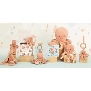 Jellycat - OD2AT - Odell Octopus Activity Toy (457584)