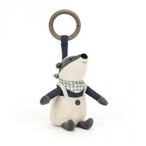 Jellycat - RAMR4BA - Little Rambler Badger Rattle (457590)