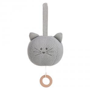 Lassig - 1313014108 - Peluche musicale tricotée Little Chums Chat (457658)