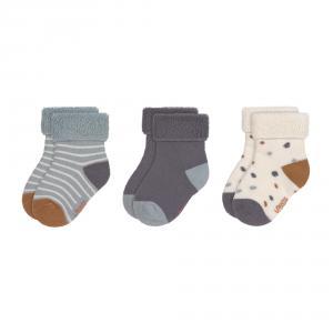 Lassig - 1532001499-15 - Lot de 3 chaussettes bébé Tiny Farmer bleu, Taille: 15-19 (457708)