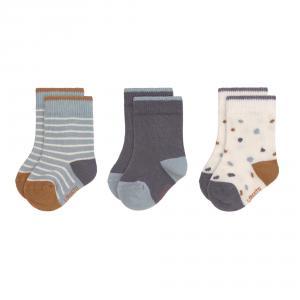 Lassig - 1532003499-12 - Lot de 3 chaussettes Tiny Farmer bleu, Taille: 12-15 (457716)
