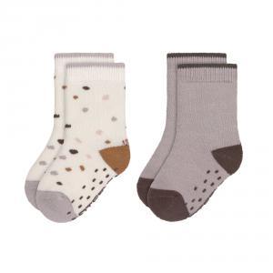 Lassig - 1532002842-23 - Lot de 2 chaussettes antidérapantes Tiny Farmer lilas, Taille: 23-27 (457724)
