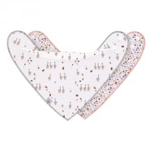 Lassig - 1311014842 - Lot de 2 bandanas avec col bénitier Tiny Farmer Oie lilas cendré (458010)
