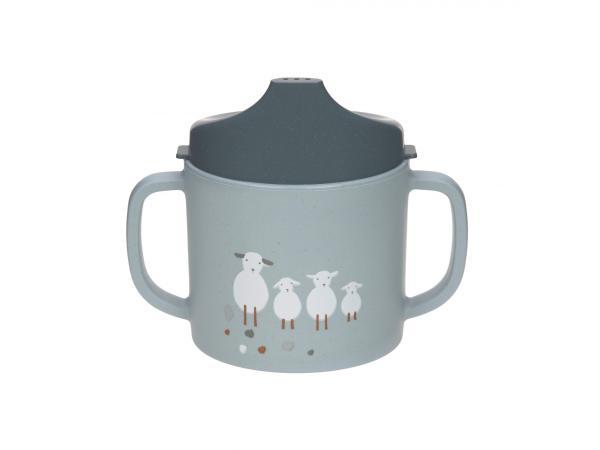 Tasse d´aprentissage tiny farmer mouton et oie bleu