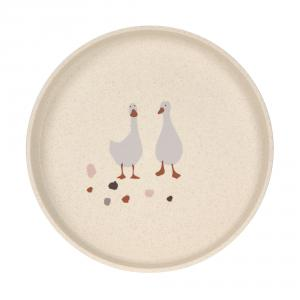 Lassig - 1310063842 - Assiette Tiny Farmer Mouton et Oie nature (458138)