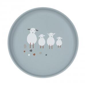 Lassig - 1310063841 - Assiette Tiny Farmer Mouton et Oie bleu (458140)