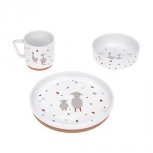 Lassig - 1210037841 - Coffret repas en porcelaine Tiny Farmer Mouton et Oie (458206)