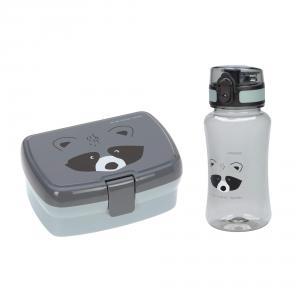 Lassig - 1210057250 - Set boîte à goûter et gourde About Friends Raton laveur (458234)
