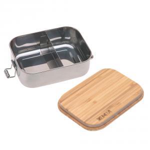 Lassig - 1210059987 - Boîte à goûter, Lunch box inox bambou Adventure (458238)