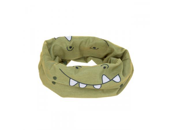 Masque enfant crocodile olive