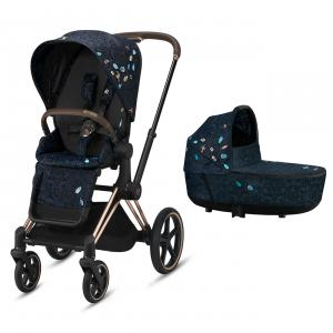 Cybex - BU530 - Pack poussette Priam rosegold avec nacelle Jewels of Nature (458394)
